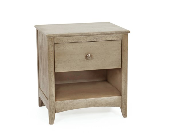 Night And Day Furniture Chesapeake Secrets Brushed Driftwood Nightstand NDF-CD-CSEC-1A-BDR