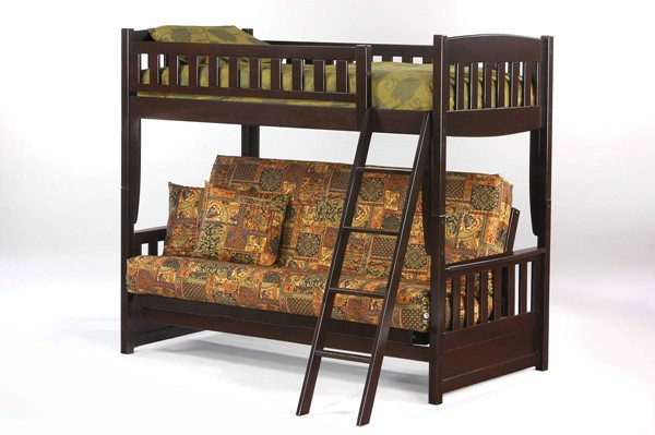 Night and Day Furniture Cinnamon Chocolate Futon Bunk Bed NDF-SFBH-CIN-CHO-COM