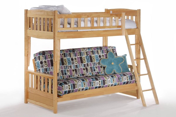 Night and Day Furniture Cinnamon Natural Futon Bunk Bed NDF-SFBH-CIN-NA-COM