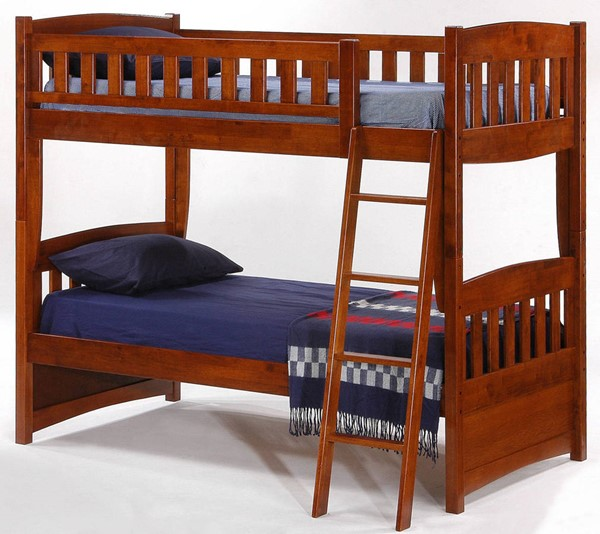 Night and Day Furniture Cinnamon Cherry Twin Twin Bunk Bed NDF-PBH-CIN-T-T-CH-COM