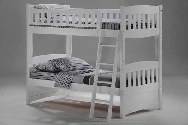 Night and Day Furniture Cinnamon White Twin Twin Bunk Bed NDF-PBH-CIN-T-T-WH-COM