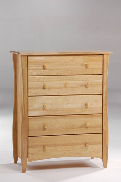 Night and Day Furniture Clove Natural 5 Drawer Chest NDF-CD-CLO-5A-NA