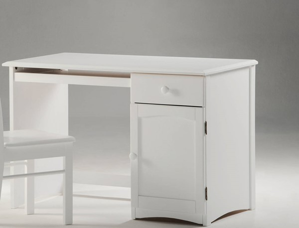 Night and Day Furniture Clove White Student Desk NDF-CSD-CLO-WH
