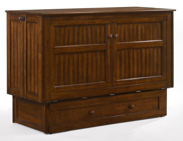 Night And Day Furniture Daisy Black Walnut Murphy Cabinet Bed With Mattress NDF-MUR-DSY-QEN-BWT-COM