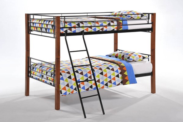 Night and Day Furniture Dandelion Cherry Twin Over Twin Bunk Bed NDF-PBB-DAN-T-T-CH-COM