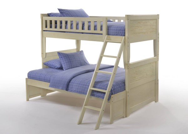 Night and Day Furniture Dolphin Buttercream Twin Full Bunk Bed NDF-PBH-DOL-T-F-BC-COM
