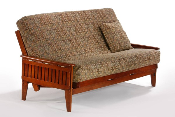 Night and Day Furniture Naples Cherry Full Futon Frame NDF-BA-NAP-BMG-FUL-CH