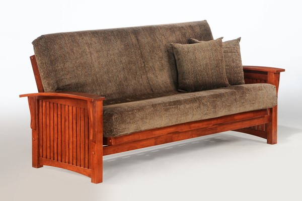 Night and Day Furniture Winter Cherry Queen Futon Frame NDF-BA-WNT-BMG-QEN-CH