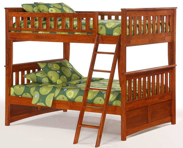 Night and Day Furniture Ginger Cherry Full Full Bunk Bed NDF-PBFF-GIN-CH-COM
