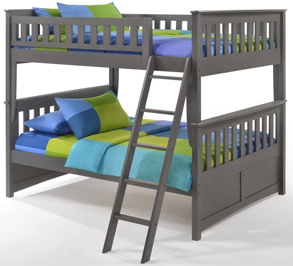 Night And Day Furniture Ginger Stonewash Full Full Ginger Bunk NDF-PBFF-GIN-STW-COM