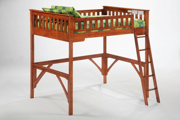 Night and Day Furniture Ginger Cherry Full Loft Bed NDF-LBH-GIN-FUL-CH-COM