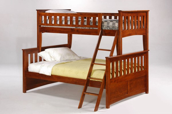 Night and Day Furniture Ginger Cherry Twin Full Bunk Beds NDF-PBTF-GIN-BB-VAR