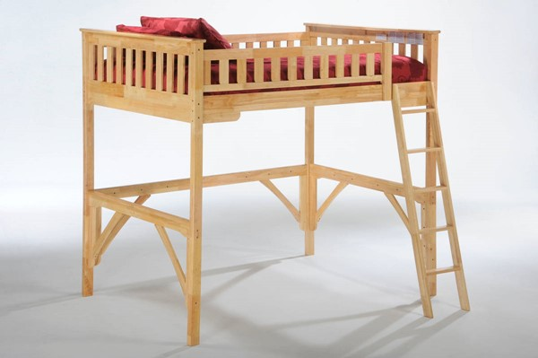 Night and Day Furniture Ginger Natural Full Loft Bed NDF-LBH-GIN-FUL-NA-COM