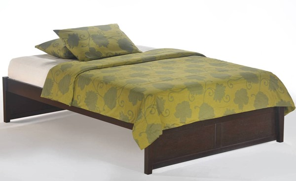 Night and Day Furniture K Series Chocolate Queen Basic Platform Bed NDF-KF-BAS-QEN-CHO-COM