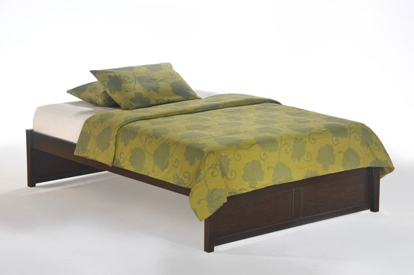 Night and Day Furniture K Series Chocolate King Basic Platform Bed NDF-KF-BAS-EKG-CHO-COM