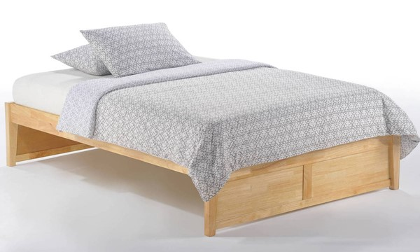 Night and Day Furniture K Series Natural Twin Basic Platform Bed NDF-KF-BAS-TWN-NA-COM