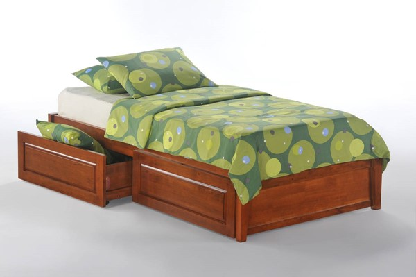 Night and Day Furniture K Series Cherry Drawer Basic Platform Beds NDF-KF-PDR-BAS-BED-VAR