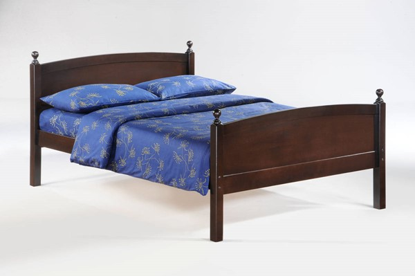 Night and Day Furniture Licorice Chocolate Full Bed NDF-YHF-LIC-FUL-CHO-COM