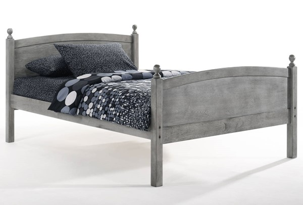 Night And Day Furniture Licorice Grey Full Bed NDF-YHF-LIC-FUL-GY-COM