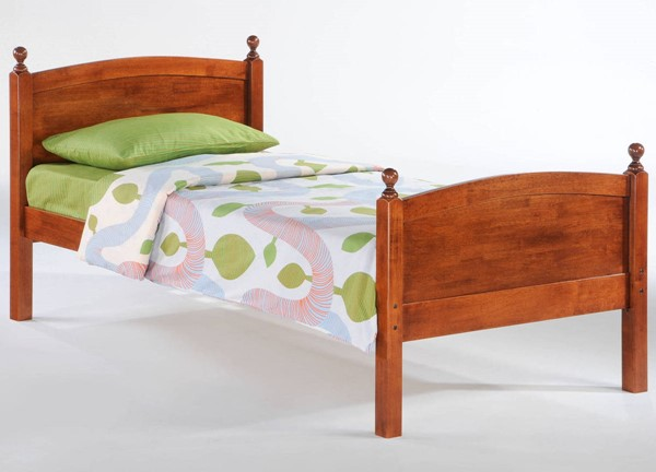 Night And Day Furniture Licorice Cherry Twin Bed NDF-YHF-LIC-TWN-CH-COM