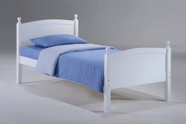 Night and Day Furniture Licorice White Twin Bed NDF-YHF-LIC-TWN-WH-COM