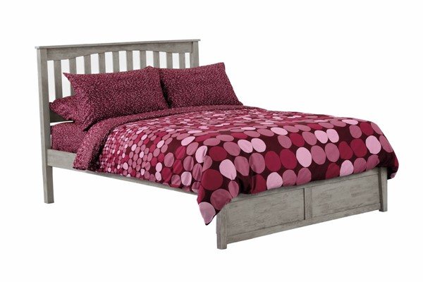 Night and Day Furniture K Series Brushed Driftwood Full Mainsail Bed NDF-KH-MAIN-FUL-BDR-COM