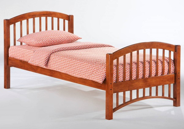 Night And Day Furniture Molasses Cherry Twin Bed NDF-YHF-MOL-TWN-CH-COM