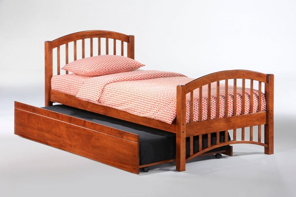 Night And Day Furniture Molasses Cherry Grey Trundle Bed NDF-YHF-YT-MOL-TWN-BED-VAR
