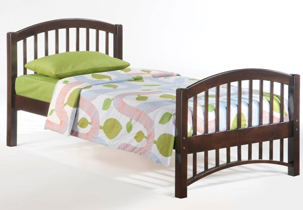 Night And Day Furniture Molasses Chocolate Twin Bed NDF-YHF-MOL-TWN-CHO-COM