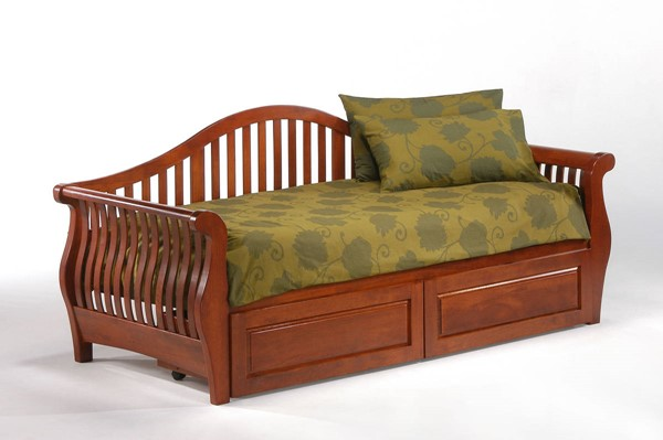 Night and Day Furniture Nightfall Cherry Drawer Daybed NDF-DBA-PDR-NFA-CH-COM