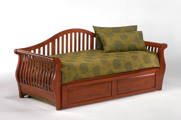 Night and Day Furniture Nightfall Cherry Trundle Daybed NDF-DBA-PBT-NFA-CH-COM