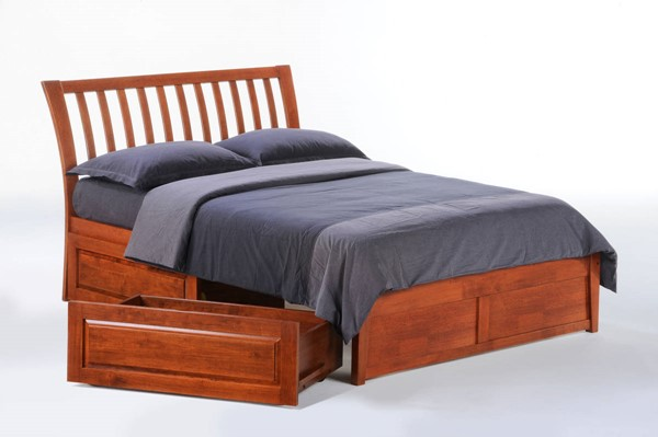 Night and Day Furniture K Series Cherry Nutmeg Drawer Beds NDF-NUT-KH-SBED-VAR