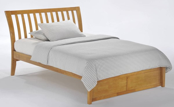 Night and Day Furniture K Series Medium Oak Queen Nutmeg Bed NDF-NUT-KH-QEN-MO-COM