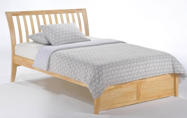 Night and Day Furniture K Series Natural Full Nutmeg Bed NDF-NUT-KH-FUL-NA-COM