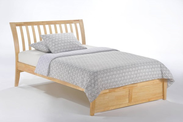 Night and Day Furniture K Series Natural Twin Nutmeg Bed NDF-NUT-KH-TWN-NA-COM