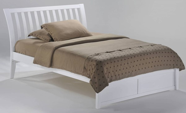 Night and Day Furniture K Series White Full Nutmeg Bed NDF-NUT-KH-FUL-WH-COM