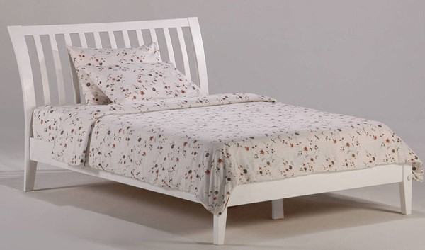 Night and Day Furniture P Series White Full Nutmeg Bed NDF-NUT-PH-FUL-WH-COM