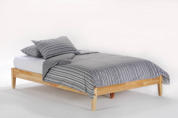Night and Day Furniture P Series Natural Basic Twin Platform Bed NDF-PF-BAS-TWN-NA-COM