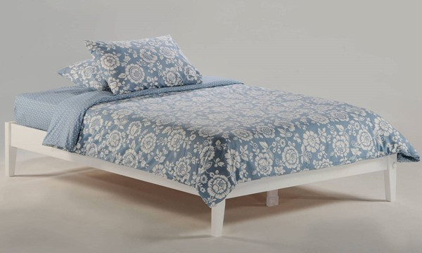 Night and Day Furniture P Series White Basic Twin Platform Bed NDF-PF-BAS-TWN-WH-COM