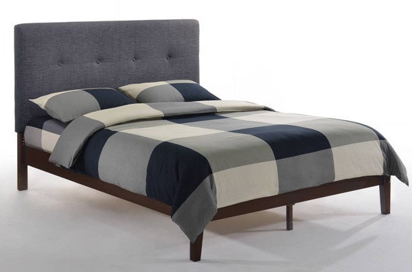 Night and Day Furniture P Series Charcoal Chocolate Paprika King Bed NDF-PAP-PH-EKG-CC-CHO-COM