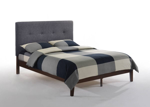 Night And Day Furniture Paprika Charcoal Chocolate Queen Bed NDF-PAP-KH-QEN-CC-CHO-COM
