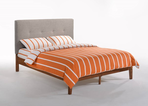 Night and Day Furniture P Series Grey Cherry Paprika Cal King Bed NDF-PAP-PH-CKG-GY-CH-COM