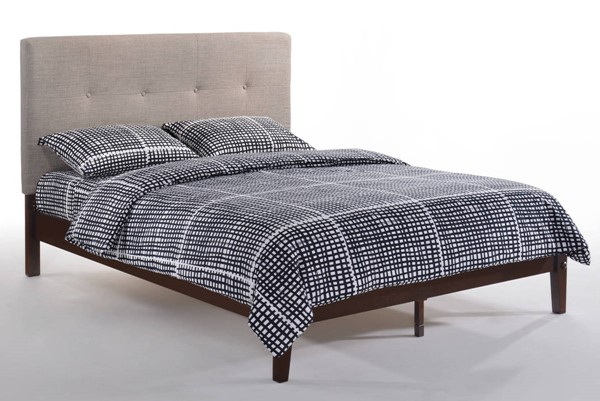 Night and Day Furniture P Series Grey Choclate Paprika Queen Bed NDF-PAP-PH-QEN-GY-CHO-COM