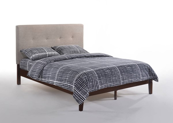 Night and Day Furniture P Series Grey Choclate Paprika Twin Bed NDF-PAP-PH-TWN-GY-CHO-COM