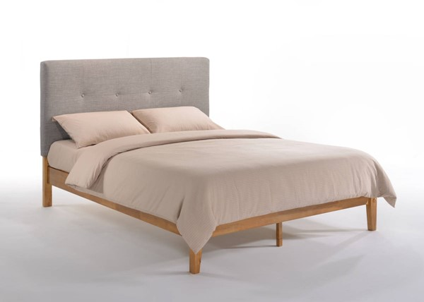 Night and Day Furniture P Series Grey Medium Oak Paprika Full Bed NDF-PAP-PH-FUL-GY-MO-COM