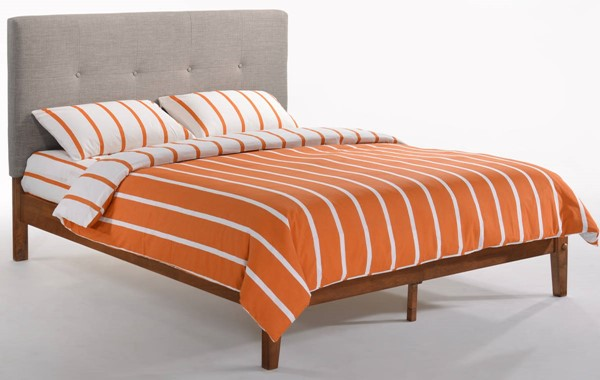 Night And Day Furniture Paprika Grey Cherry Twin Bed NDF-PAP-KH-TWN-GY-CH-COM