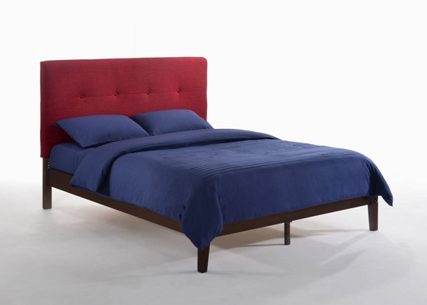 Night and Day Furniture P Series Red Chocolate Paprika Full Bed NDF-PAP-PH-FUL-RD-CHO-COM