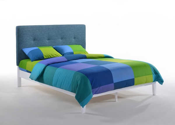 Night and Day Furniture P Series Teal White Paprika Full Bed NDF-PAP-PH-FUL-TL-WH-COM