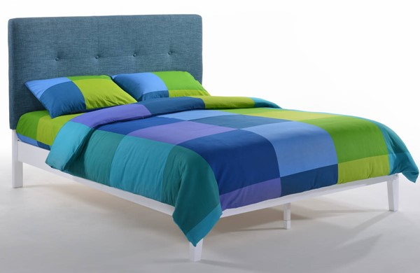Night And Day Furniture Paprika Teal White Full Bed NDF-PAP-KH-FUL-TL-WH-COM