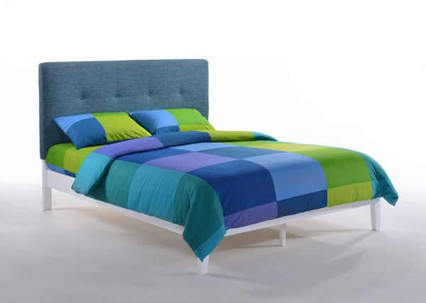 Night And Day Furniture Paprika Teal White King Bed NDF-PAP-KH-EKG-TL-WH-COM